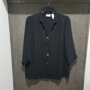 Liz Claiborne Woman - Black Button Down - Size 3X